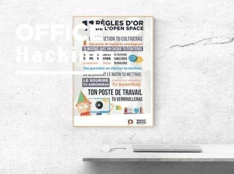 """Affiche : """"Les 11 règles d'or de l'open space"""""""