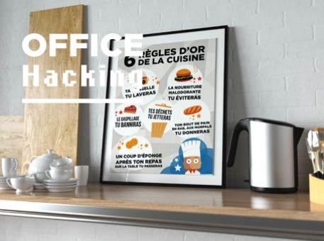 """Affiche : """"Les 6 règles d'or de la cuisine"""""""