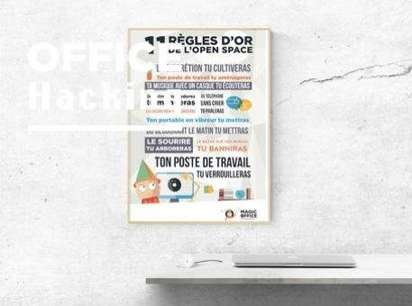 "Affiche : ""Les 11 règles d'or de l'open space"""