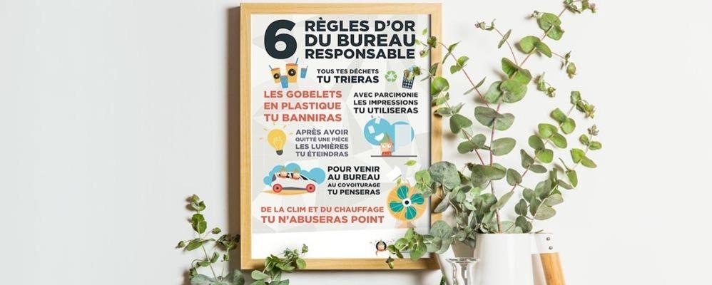 Les 6 règles d'or du bureau responsable