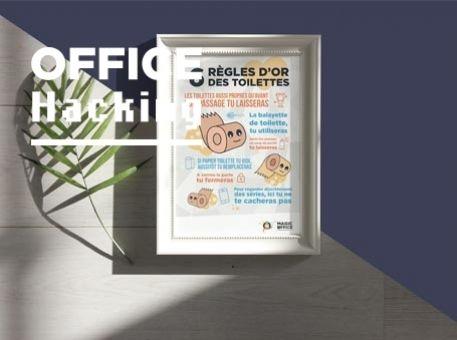 """Affiche : """"Les 6 règles d'or des toilettes"""""""