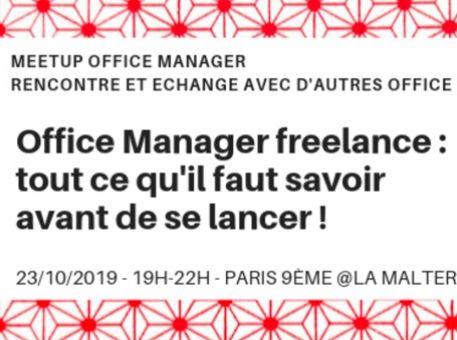 """Evénement : """"Office Manager freelance : tout ce qu'il faut savoir avant de se lancer !"""""""