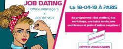 Job Dating Office Manager, le 18 avril à Paris !